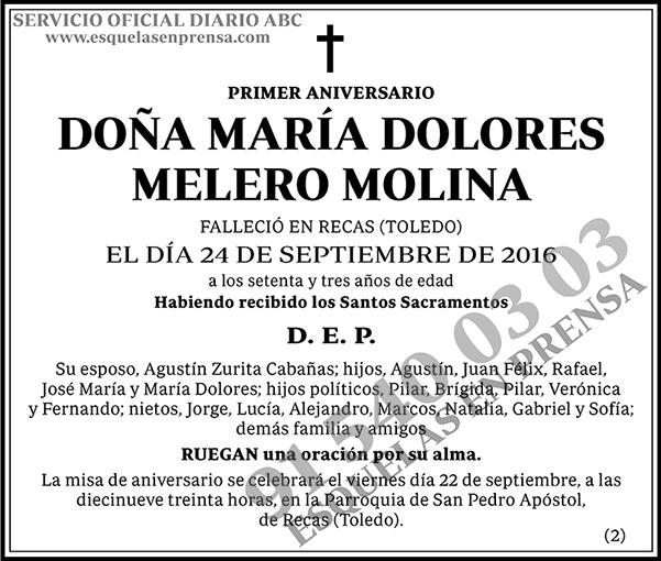 María Dolores Melero Molina